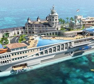155m SWATH 'The Streets of Monaco' superyacht by Yacht Island Design