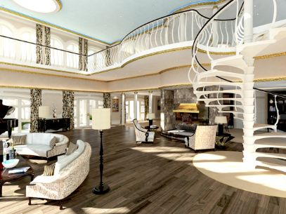 155m SWATH The Streets Of Monaco Superyacht By Yacht Island Design Owners Apartment Living Room
