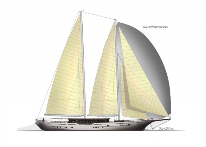 40m sailing yacht ZanZiba by Archipelago Yachts