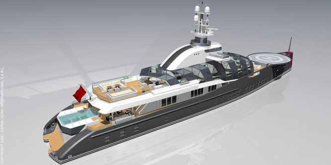 84m Motor Yacht Project Freedom by Espen Oeino