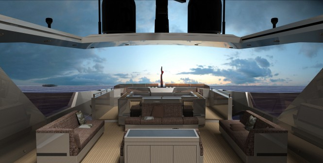 ANATOMIC 42m motor yacht flybridge by Tiranian Yachts