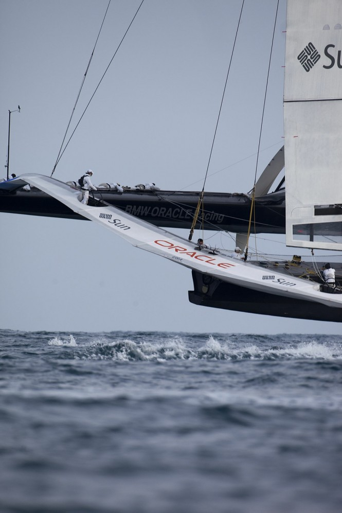 America's Cup winning trimaran USA 17 bound for San Francisco - Photo Credit Oracle Racing