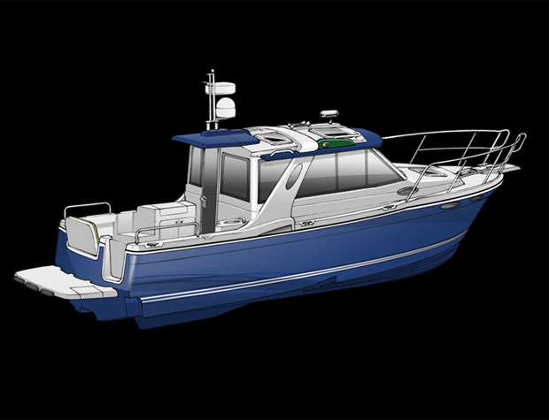 Fluid Motion will debut its Cutwater 26 and 28 at the Seattle Boat Show, ...