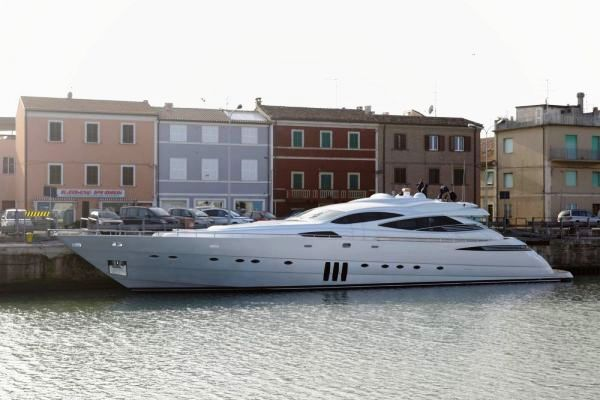 Ferretti launch 9th Pershing 115' motor yacht at Marina dei Cesari Fano ...
