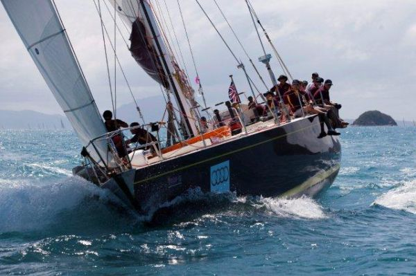 Maxi sailing yacht Condor, two-time winner of line honours in the Sydney-Hobart race, is the first entry for Audi Hamilton Island Race Week 2011. Photo  Andrea FrancoliniAUDI