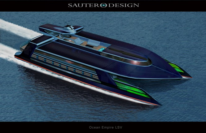 Ocean Empire LSV  by Sauter Carbon Offset Design - The Worlds First Self Sufficient Zero Carbon Superyacht 