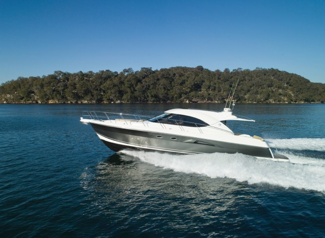 Riviera exhibits 5000 Sport Yacht at the Boot Dusseldorf 2011