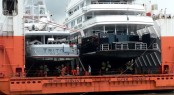 Superyacht Triton & Ulysses on Dockwise Ship