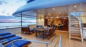 Yacht Calliope - The Upper Aft Deck - Image Courtesy of Holland Jachtbuw - Images by Nicolas Claris