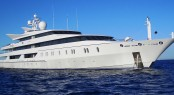 Oceanco Yacht Indian Empress at Anchor