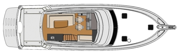 53 Enclosed Flybridge - Forward Helm Option