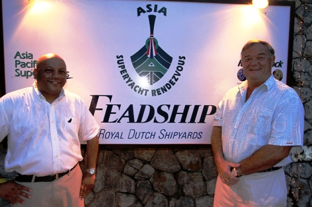 Asia Superyacht Rendezvous organisers  Gordon Fernandes &amp; Captain Charlie Dwyer