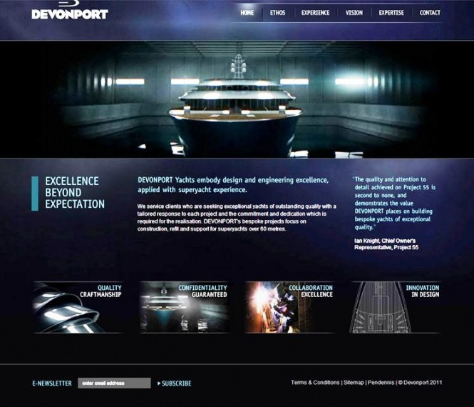 Devonport Yachts New Website and Digital Brand