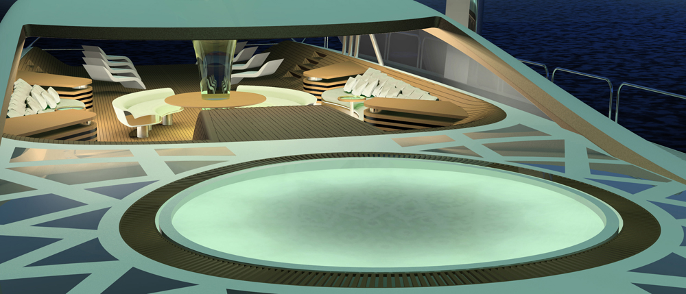 Geen jet yacht design spa pool yacht charter for Pool jets design