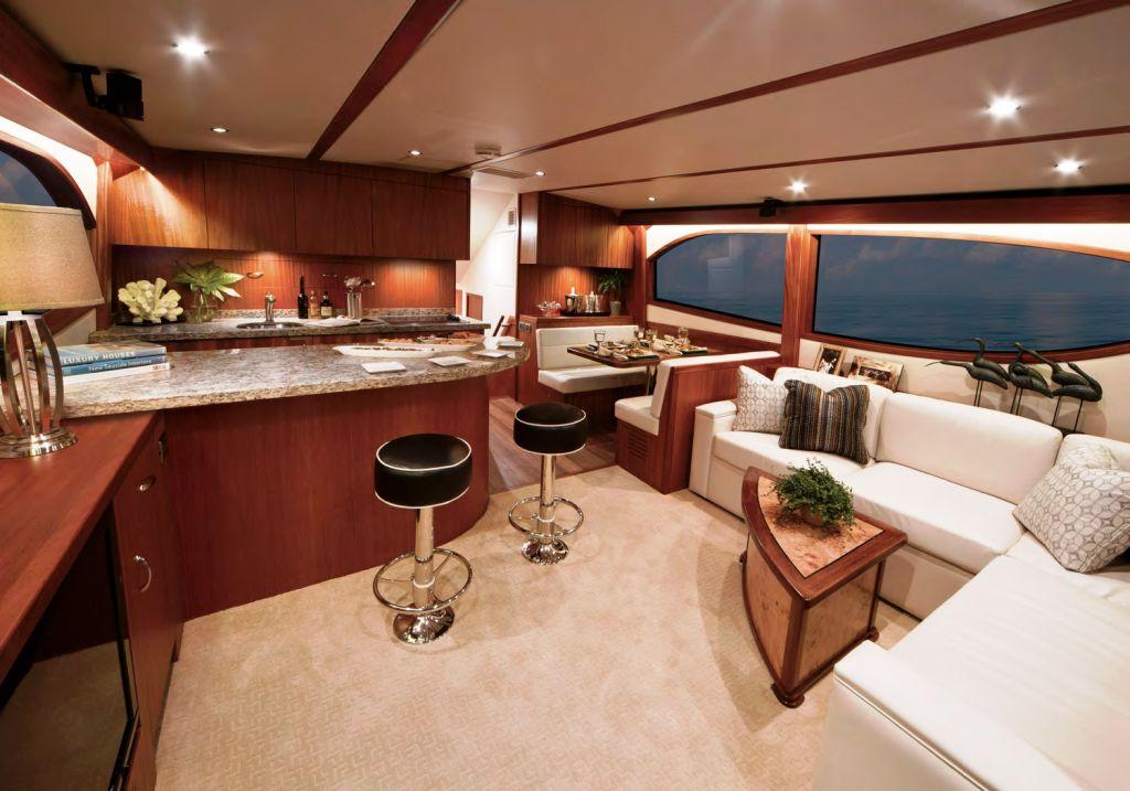 Hatteras GT60 Motor Yacht Interior — Yacht Charter ...