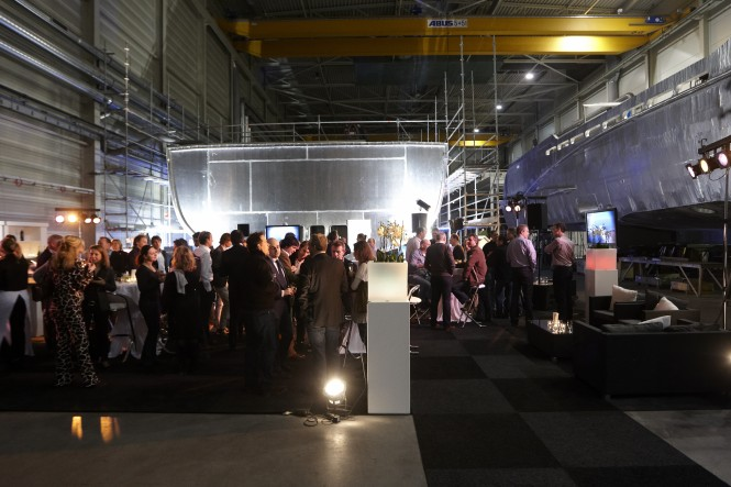 Keel laying Ceremony for the 65-metre Fast Displacement motor yacht HY16465 at Heesen Yachts - Photo Credit Dick Holthuis