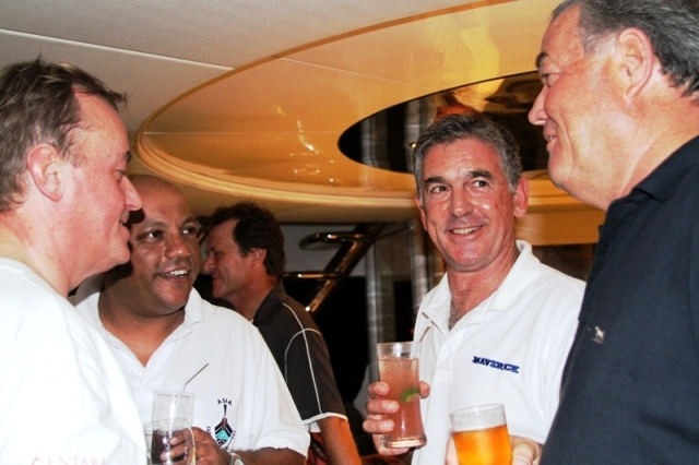 Maverick II Captain with organisers aboard My Lady Arraya