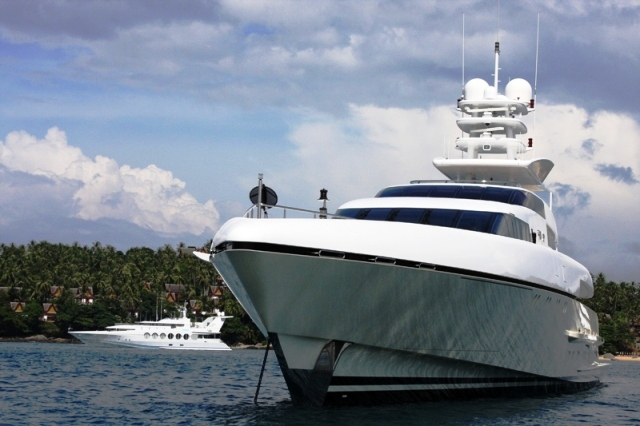 Moored at Pansea Bay for Asia Superyacht Rendezvous