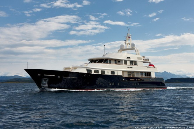 Motor Yacht Calliope -a finalist for Neptune Trophy at  World Superyacht Awards - Credit Nicolas Claris