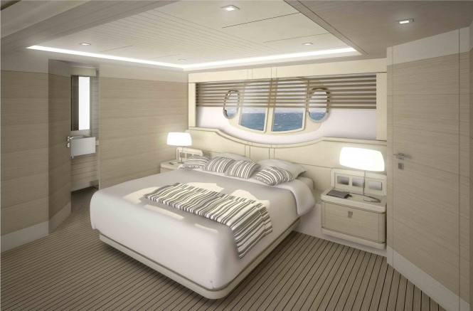 Motor yacht Navetta 33 Crescendo Guest Cabin