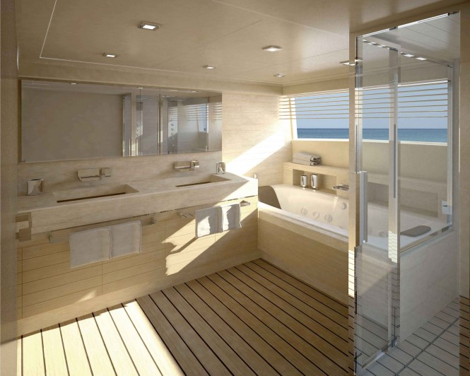 Navetta 33 Crescendo Motor Yacht Master Bathroom
