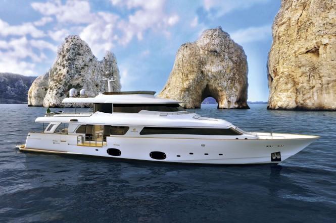 Navetta 33 Crescendo Motor Yacht by Ferretti Custom Line