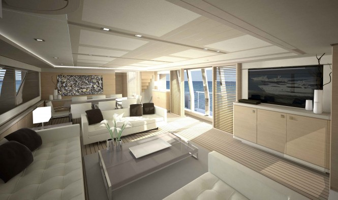 Navetta 33 Crescendo by Ferretti Custom Line - Salon