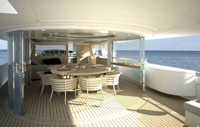 Navetta 33 Crescendo M/Y Upper deck
