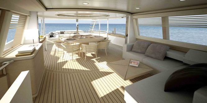 Navetta 33 Crescendo Motor yacht - Upper deck
