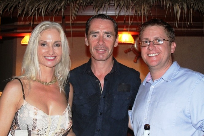 Rolling Stock's Rupert Savage with guests at Asia Superyacht Rendezvous