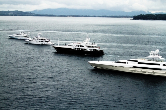 Some of the boats streaming out on first day of Asia Superyacht Rendezvous
