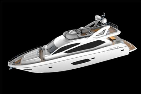 Sunseeker Manhattan 73 motor yacht Profile