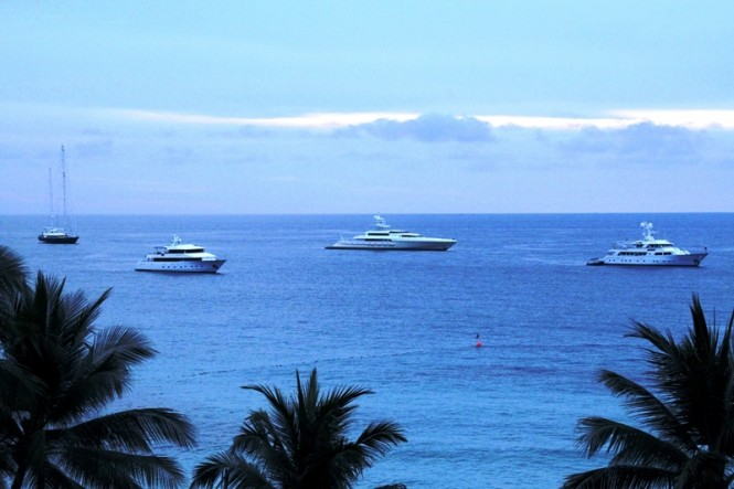 Superyachts in Phuket at The Surin
