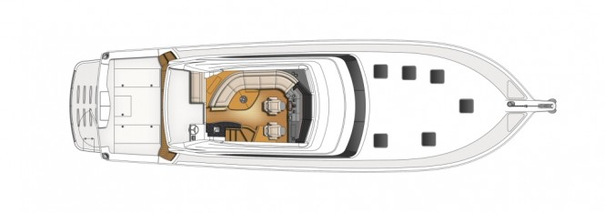 The new Riviera 61 Enclosed Flybridge Series II Flybridge Design