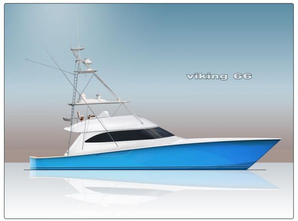 Viking 66 Convertible Motor yacht - Credit Viking Yachts