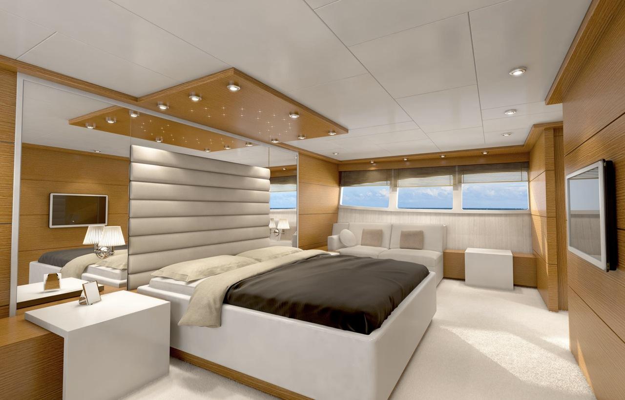 Vulcan 32m Motor Yacht Master Cabin Yacht Charter
