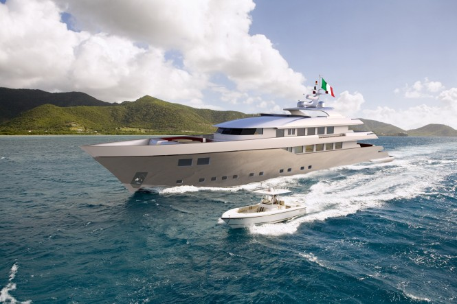 43 metre motor yacht BaiaMare by Ned Ship Group. The Owner of the yacht ...