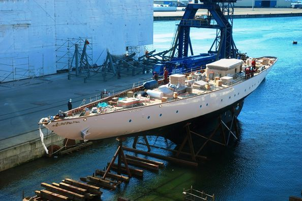 47m Schooner Y105 launched by Factoria Naval Marin