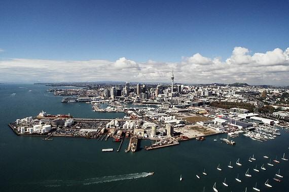 Auckland harbour - Wynyard Quarter
