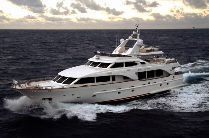 Benetti Tradition 100 at the Dubai International Boat Show