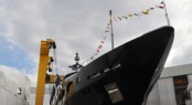 Launching Photo of Yacht Aifos by Cbi Navi