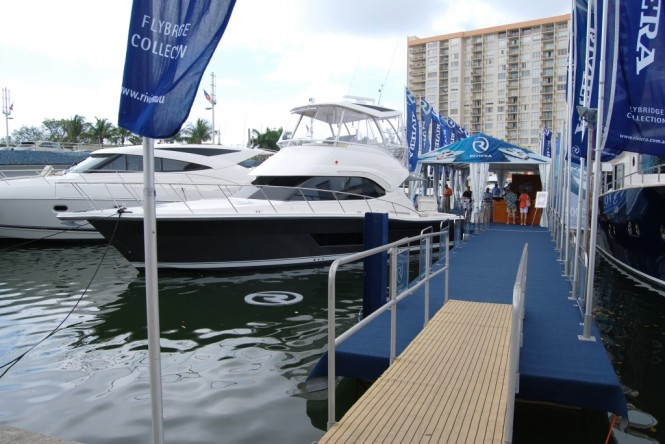 Entry to Riviera's floating display at the Miami Yacht and Brokerage Show