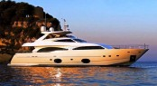 Ferretti Custom Line 97 motor yacht Casta Diva preparing to launch