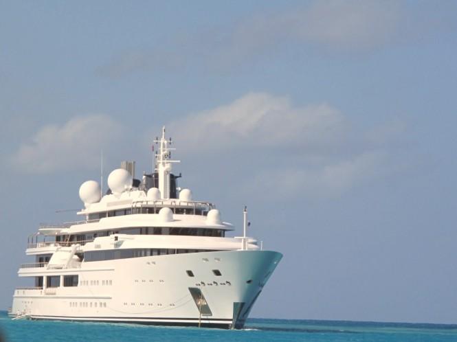 Lurssen's Superyacht KATARA in St Martin, Caribbean