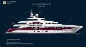 Motor Yacht Quinta Essentia Striping Plan - Photo credit to Emilio Bianchi
