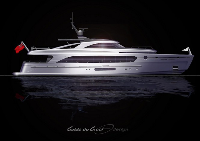 Next Generation Hybrid 34m Motor Yachts by Guido de Groot Design and Intec Marine