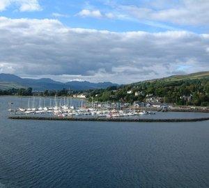 SF Marina breakwater calms Rhu Marina Scotland