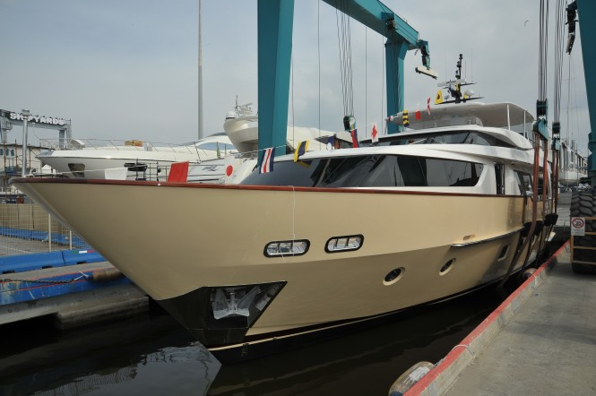 Sanlorenzo SD92 motor yacht Bubu Forever at her launch