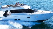 Sealine's F46 Flybridge motor yacht to be on display at the Hong Kong Boat Show