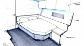 Sketch of Sailing yacht SANS Owners Cabin